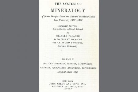 Dana's System of Mineralogy Volume II, Seventh edition