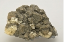 Cerussite on Galena with fluorite
