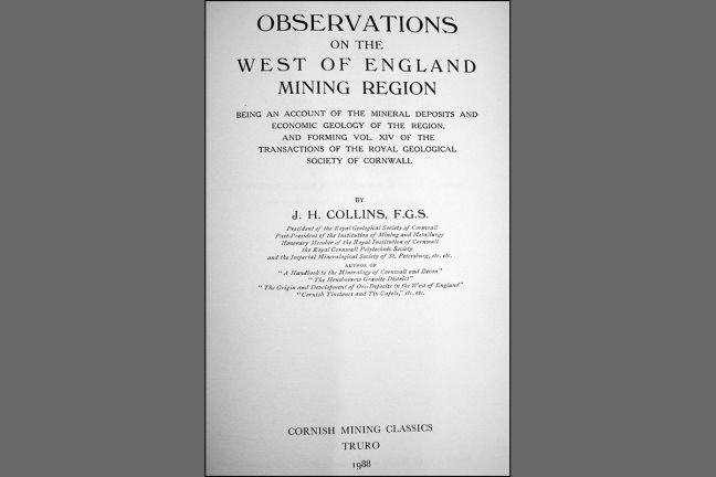 Observations on the West of England Mining Region