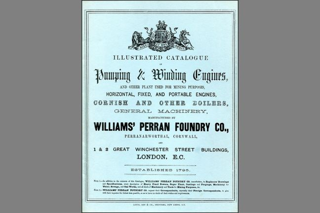 Illustrated catalogue of Pumping and Winding Engines manufactured by Williams' Perran Foundry