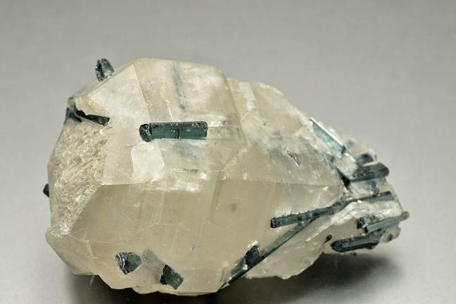 Elbaite on quartz