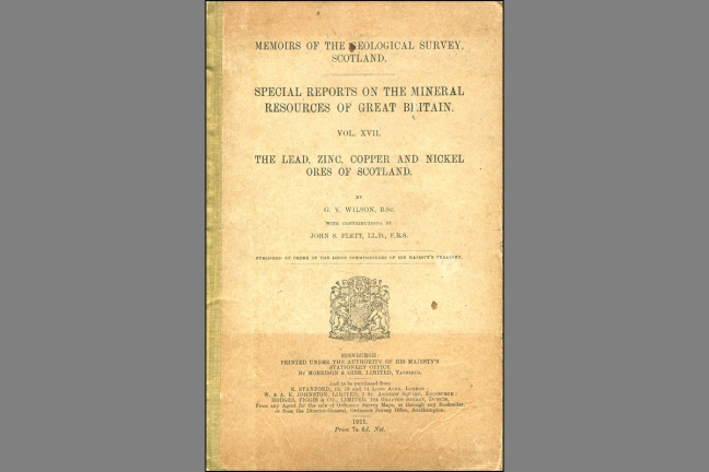 Special Reports on the Mineral Resources of Great Britain. Vol. XVII. The lead, zinc, copper and nickel ores of Scotland.