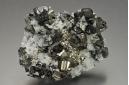 Pyrite & Sphalerite on Quartz