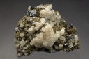 Calcite on Pyrite with Sphalerite