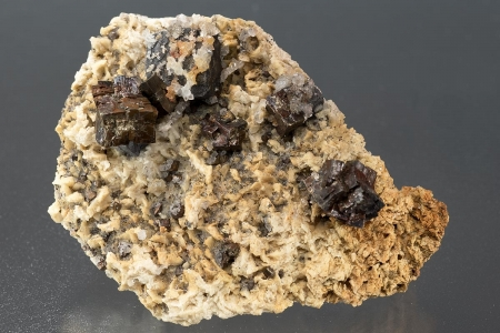 Pyrite on ankerite