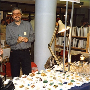 Peter Briscoe at a Mineral Show in The Hague, Holland